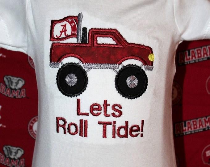 University of Alabama,Crimson Tide,Roll Tide,Bama bodysuit,Bama Truck,Alabama bodysuit,Bama,Baby shower gift,New baby gift,Crimson pickup