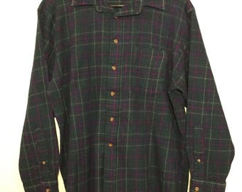 PENDLETON Vintage 100% Wool Celebration Tartan Shirt sz XLarge/Large VG+ cond Made in USA
