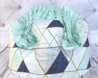 Geometric Mint Bumbo Seat Cover