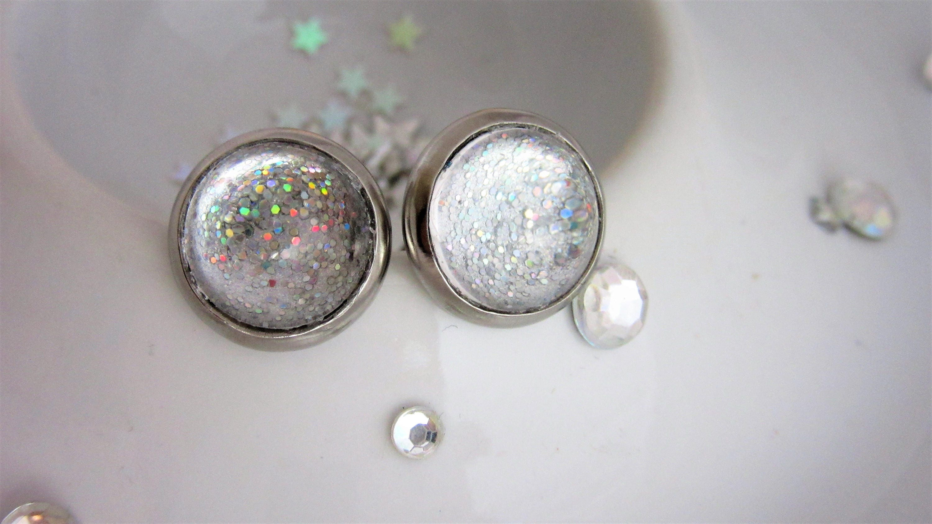 earrings drusy sparkle silver product sparkly rock stud