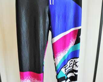 Vintage Aerobics Pants / XL /  Trousers / Running Tights / Activewear / Leggings / Black / 80s / 90s / Yoga / Athletic / Sport