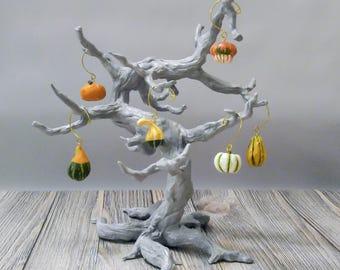 Autumn Gourd Mini Ornaments, set of 6