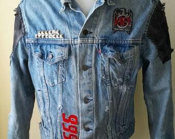 Slayer Denim and Leather Jacket