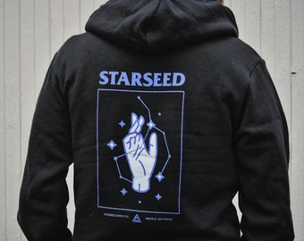 Starseed Hoodie - Flex Fleece Zip-Up Hoodie - Metaphysical Clothing - Higher Consciousness - Spiritual, Esoteric, Mystical - Unisex