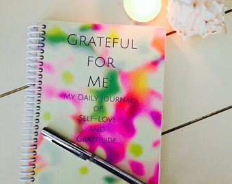 Mindfulness Gift, Journal, Writing Journal, Journal Diary,  Personal Journal, Gratitude Journal, Spiral Notebook, Gift for Her
