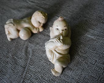 Vintage Chalkware Babies