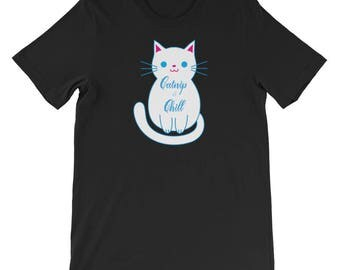 Catnip and Chill Cat Lover's Tee Shirt