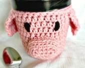 Crochet Pig Ice Cream Cozy