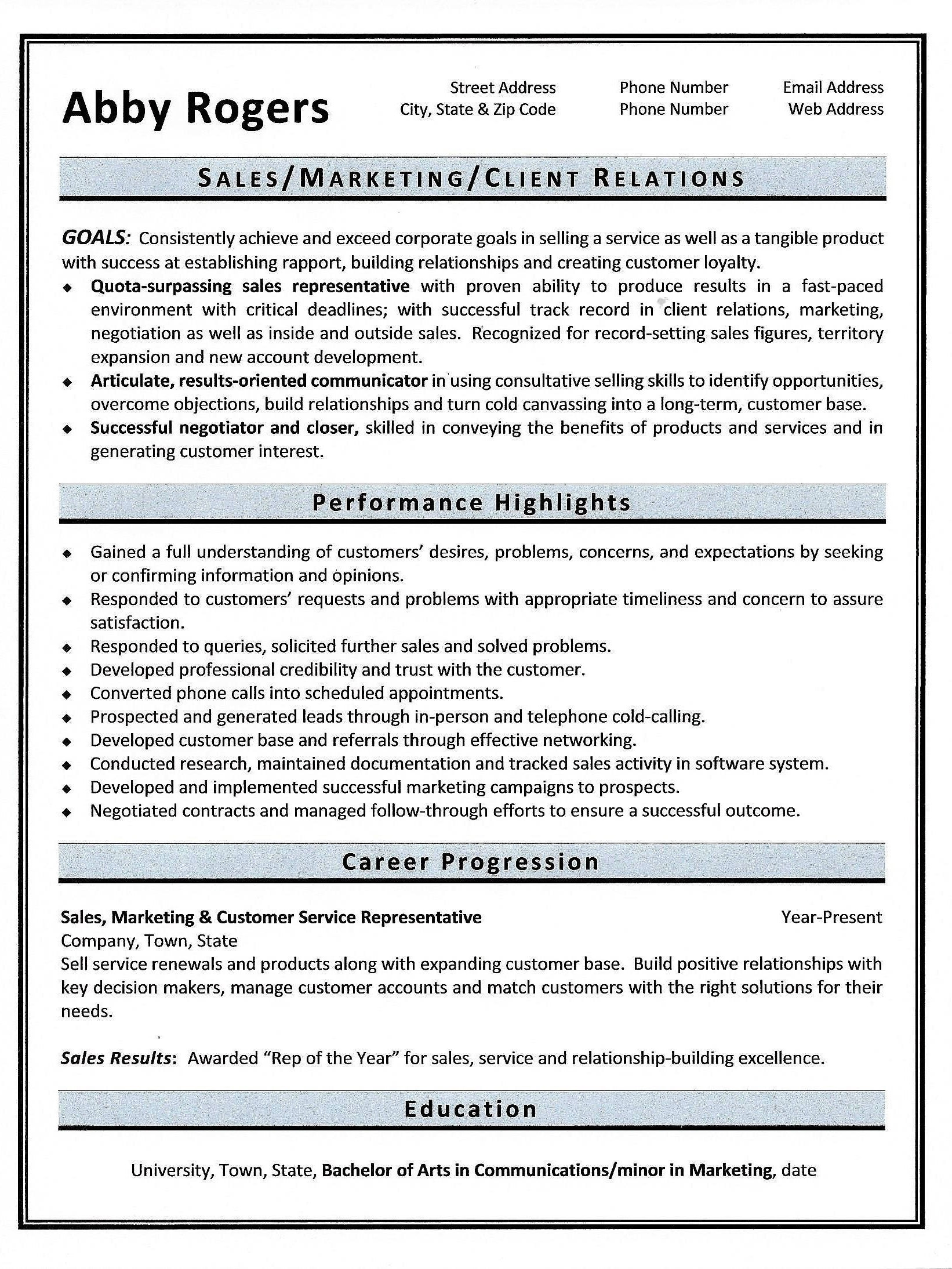 functional resume objective examples