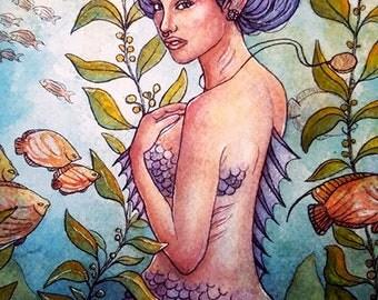 8x10 By Land or Sea Fine Art Mermaid Print