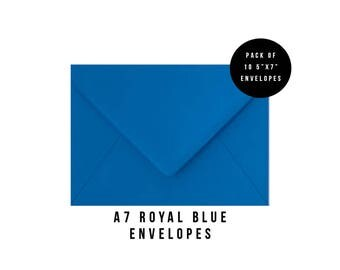 5x7 Blue Envelopes