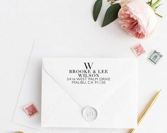 Custom Return Address Stamp, Self Ink Return Address Stamp, Personalized Address Stamp, Calligraphy Address Stamp Return Address Stamp No3
