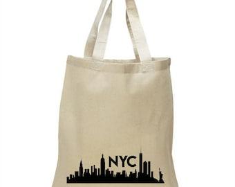Soft Cotton Tote Bag - New York City skyline NYC