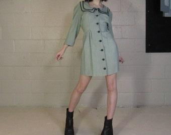 vintage 80s button down dress size 7/8