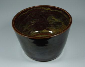 Medium Red and Brown Handmade Ceramic Bowl