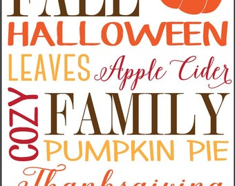 Fall - Halloween - Leaves and More - Printable - Perfect Home Fall Decor