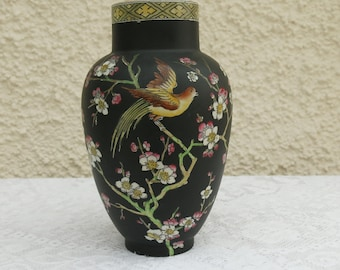 Vintage Oriental Style Pottery Vase by Adams, Tunstall