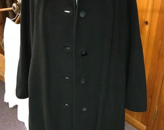 Cashmere swing coat | Etsy