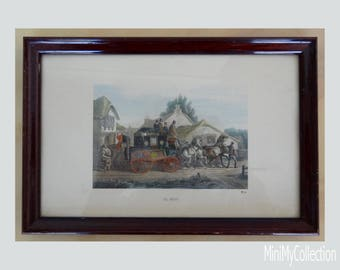 Vintage print by Charles Cooper Henderson illustration Coaching days of 19th century Get your 30% off - see shop announcement