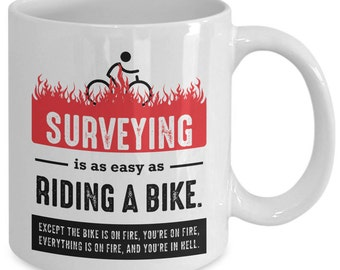 Surveyor Gift, Land Surveyor, Surveyor Mug, Surveyor Christmas, Surveying Decor, Cartographer Gifts, Surveyor Birthday