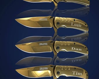 14 Personalized Knifes - 14 Groomsmen gifts - Officiant gift - Best Man & Groomsmen engraved tactical knives - Wedding gift set