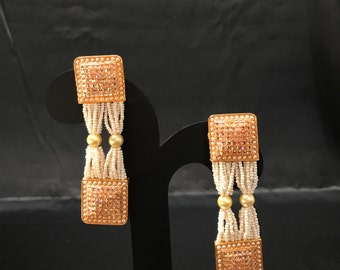 Indian Earrings - Indian Jewelry - Bollywood Jewelry - Bollywood Earrings - Pakistani Jewelry - Pakistani Earrings - Indian Bridal Wedding -