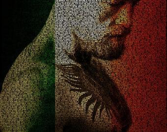 Word Art Canvas - Conor McGregor