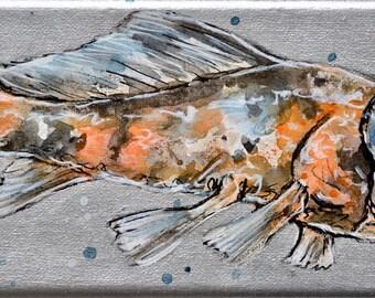Original artwork//unique//Shubunkin//Goldfish//handmade//gift for her//gift for him