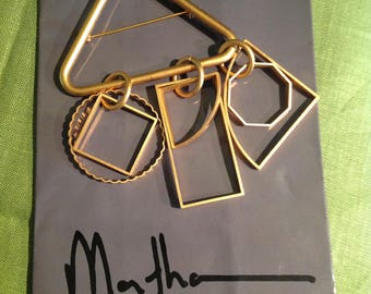 Martha Sturdy Vancouver Pin/Brooch Geometric Shapes in Matte Gold