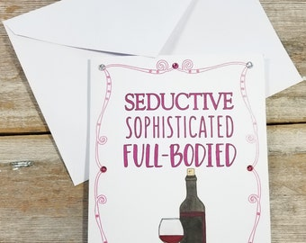 Anniversary Card for Her - Wine Greeting Card - Funny Anniversary Card - Anniversary Card Wife - Funny Anniversary Card for Her