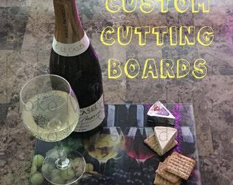 Custom Cutting Boards, Trivets, wine,cheese,  gift