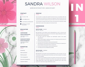 Creative Resume | Modern resume / CV template | Professional Resume + Cover Letter & References + Resume Writing guide | CV Instant Download