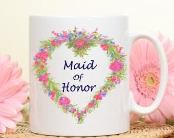 Maid of Honor gift, Maid of Honor mug, Gift for Maid of Honor, Bridal party gifts, gifts for bridal party, wedding party gifts, brides maids