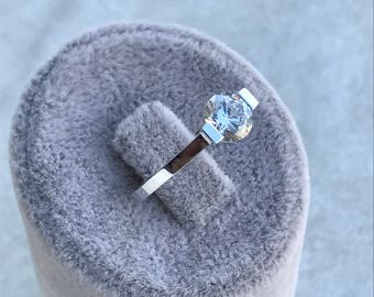 Rings, Ring solitaire, Solitaire Engagement Ring, White gold solitaire ring, Ring for her, Promise ring, Diamond ring, April Birthstone Ring