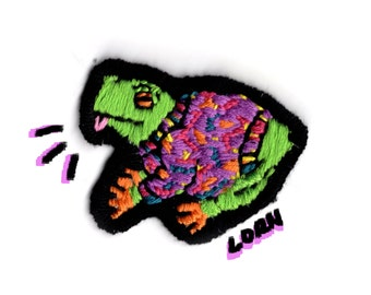 90's SWEATER FROG - handmade patch