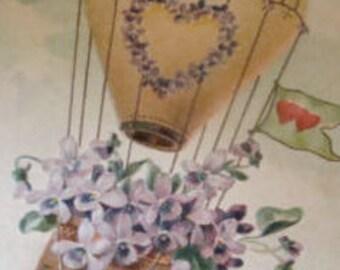 Nice Vintage Floral/Fantasy Postcard
