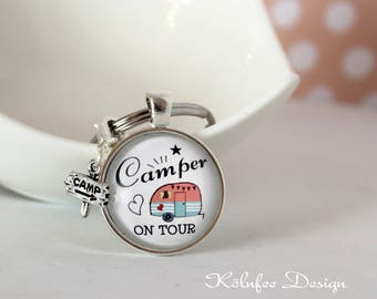 Key chain camper on tour, keychain camping, camper, gift camper, gift camping, quote, trailer, caravan