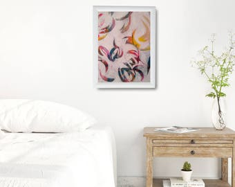 Abstract Painting Print Gift, Abstract Wall Art Christmas Gift, Modern Floral Poster, Large Abstract Poster, Large Painting Art Print Gift