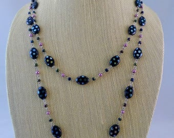 Polka Dot magic! Multi strand beaded necklace