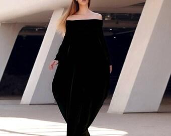 Bohemian Maxi Dress, Long Sleeves Dress, Boho Maxi Dress, Black Maxi Dress, Loose Dress, Long Dress, Plus Size Maxi Dress, Extra Long Dress