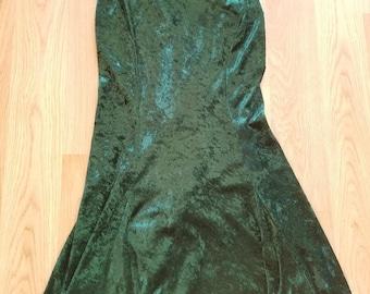 90's Emerald Velvet Dress
