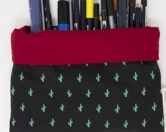 Cactus roll up pouch