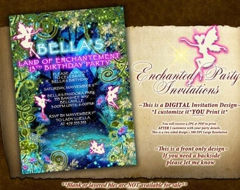 Magical Fairy Forest Birthday and Shower Invitations