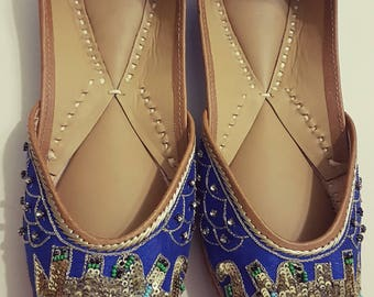 Elephant haathi sequins Punjabi Juttis Khussas Ballerinas shoes flats bridal party wear gypsy boho
