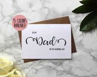 To My Dad On My Wedding Day - Dad Wedding Day Card - Wedding Card For Dad - Card For Dad Wedding Day - To My Parents On My Wedding Day
