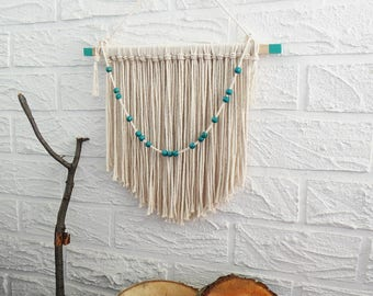 Boho yarn wall hanging, boho wall decor, yarn wall decor, yarn wall hanging, eco wall decor, boho, home wall decor, boho decor