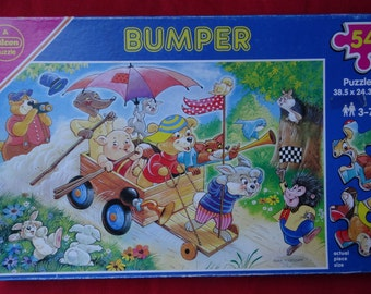 Vintage 1980's Bumper 54 Large Piece Jigsaw Puzzle RARE by artist Alan Fredman