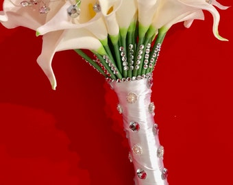 Silk Calla Lilies Wedding Bouquet
