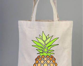 Bachelorette Bag, Pine Apple Bag, Wedding Welcome Tote Bag, Bridesmaid gifts, Tropical Wedding Favors