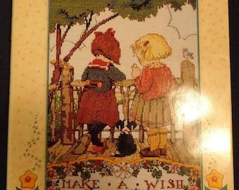 Vintage 1996 Mary Engelbreit Cross Stitch Patterns Hardcover Book